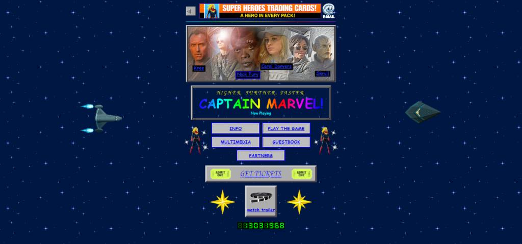 キャプテンマーベルサイトスクリーンショット