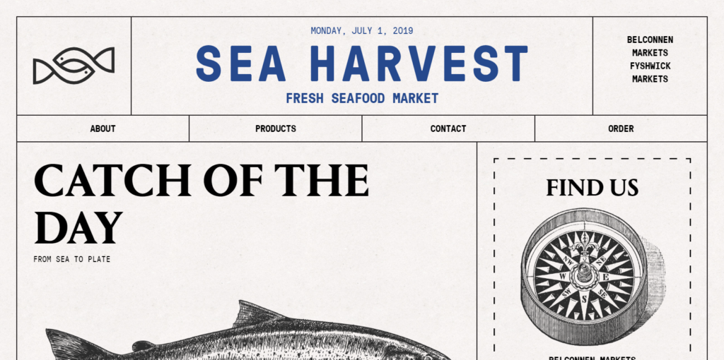 Sea Harvest サイトスクリーンショット