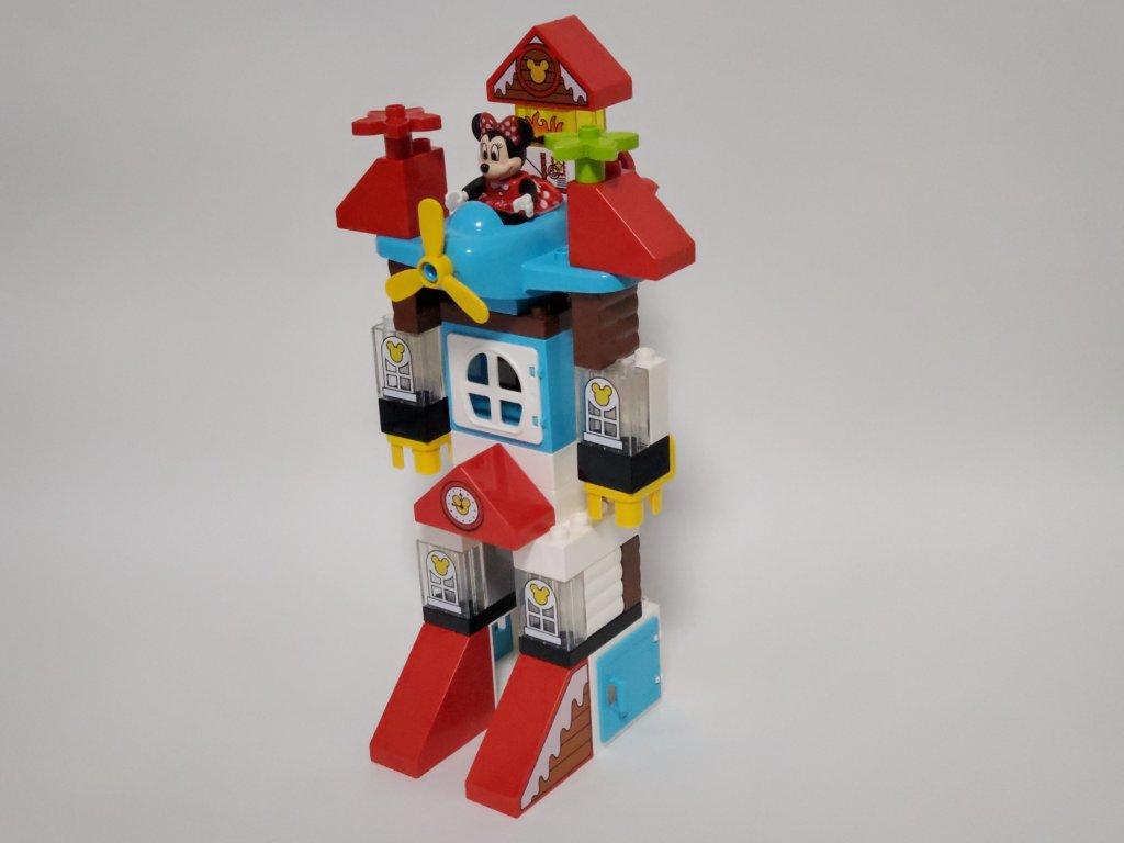 lego duploミッキーとミニーのホリデーハウス、ロボットへ変形、全体像